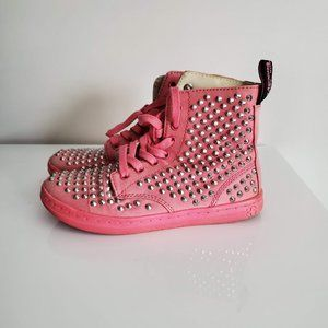 Rare! Doc Martens Boots Pink Ankle Stud SHORESTUD